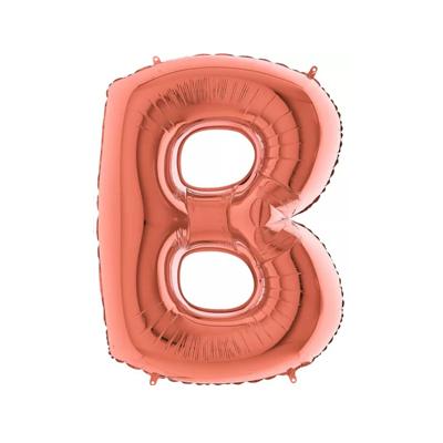 Letra B - Rosé Gold